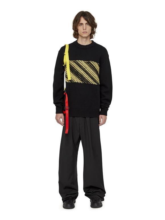 Tape Chunky Knit Sweater