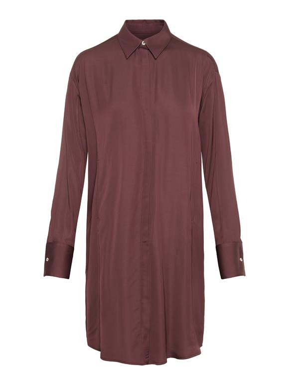 Nicoletta Satin Shirt Dress