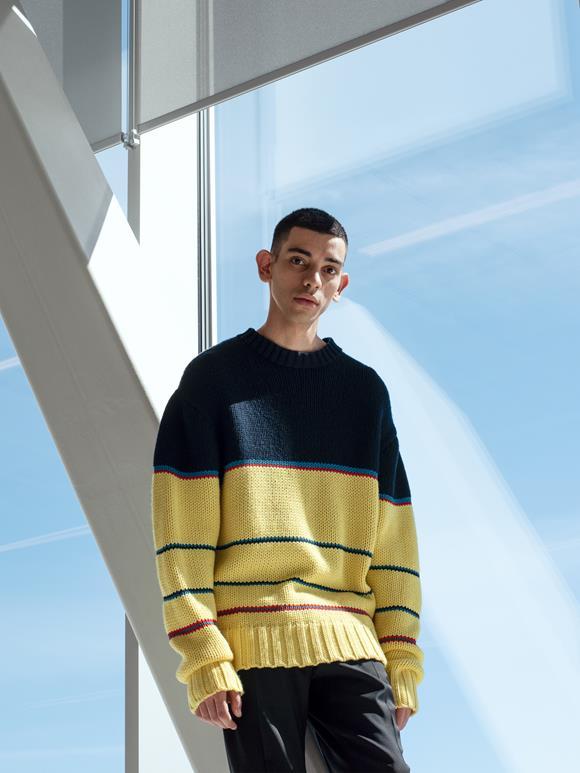 Striped Chunky Wool Sweater