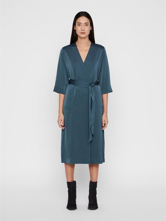 Destiny Fluid Crepe Wrap Dress