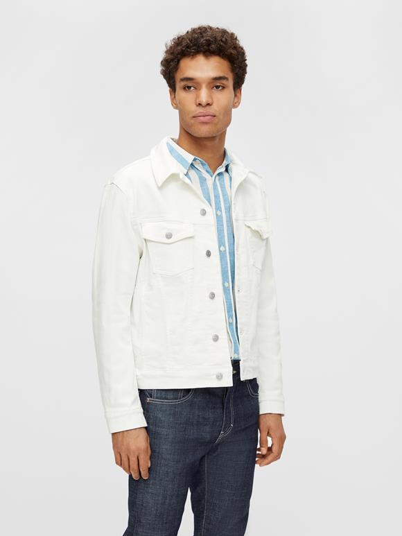 Ran Solid Stretch Denim Jacket