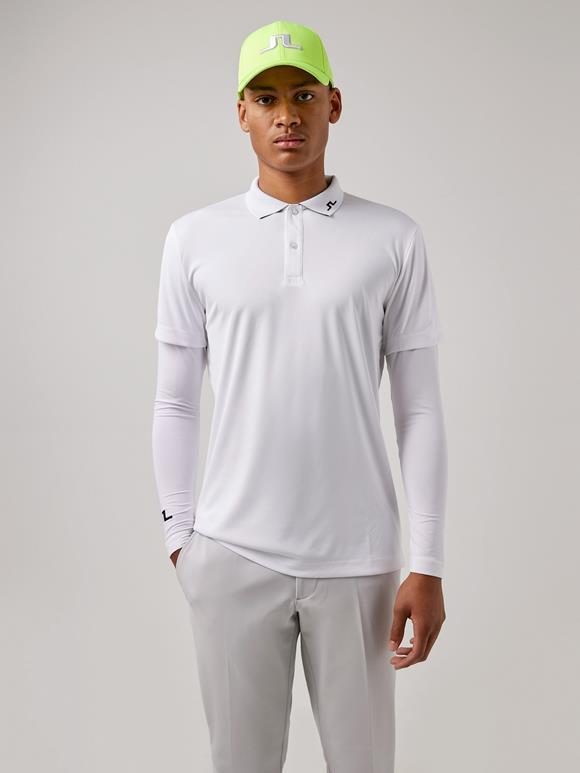 제이린드버그 골프웨어 폴로티 J.LINDEBERG Leon Long-sleeve Golf Polo,White
