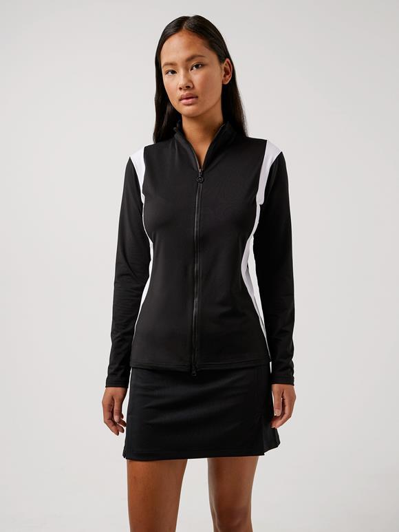제이린드버그 골프웨어 집업 블랙 J.LINDEBERG Daria Golf Mid Layer,Black