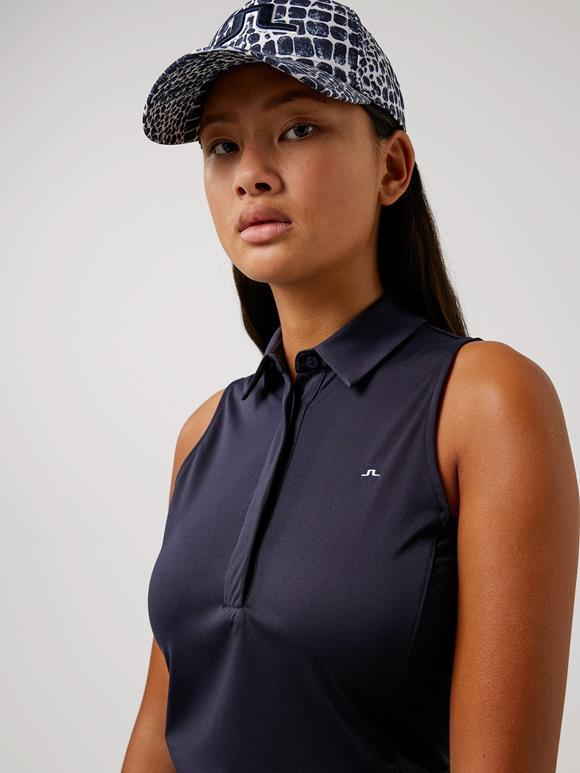 제이린드버그 골프웨어 폴로 민소매 J.LINDEBERG Dena Sleeveless Golf Top,JL Navy