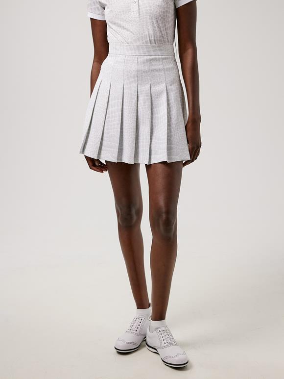 제이린드버그 골프웨어 플리츠 치마 J.LINDEBERG Adina Printed Golf Skirt,Micro Chip Croco