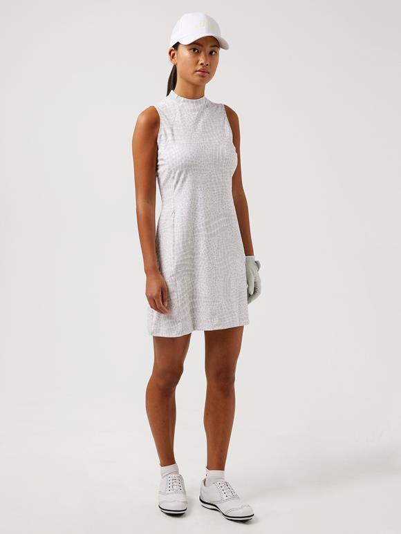 제이린드버그 골프웨어 민소매 원피스 J.LINDEBERG Nena Print Golf Dress,Micro Chip Croco