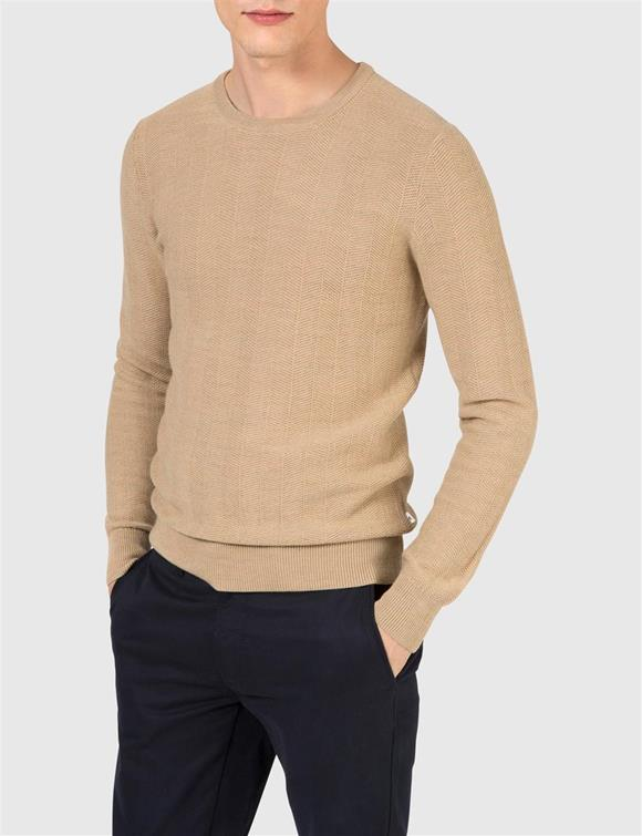 Damon Herringbone Knit Sweater