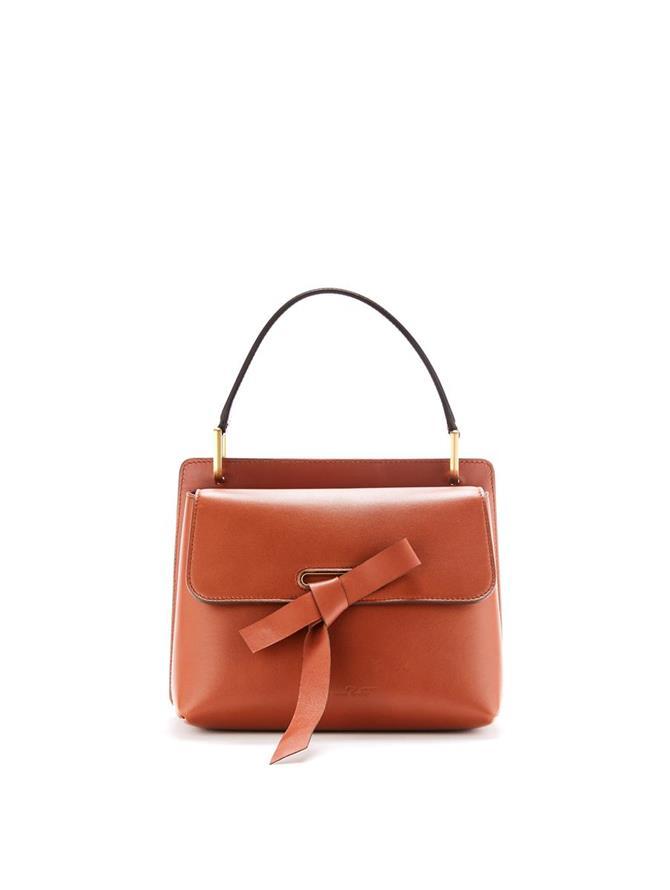 Cognac Leather Caveat Bag