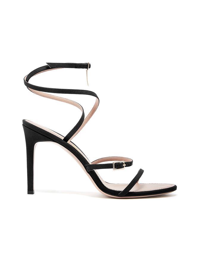 Silk Crepe de Chine Ruby Asymmetric Sandals