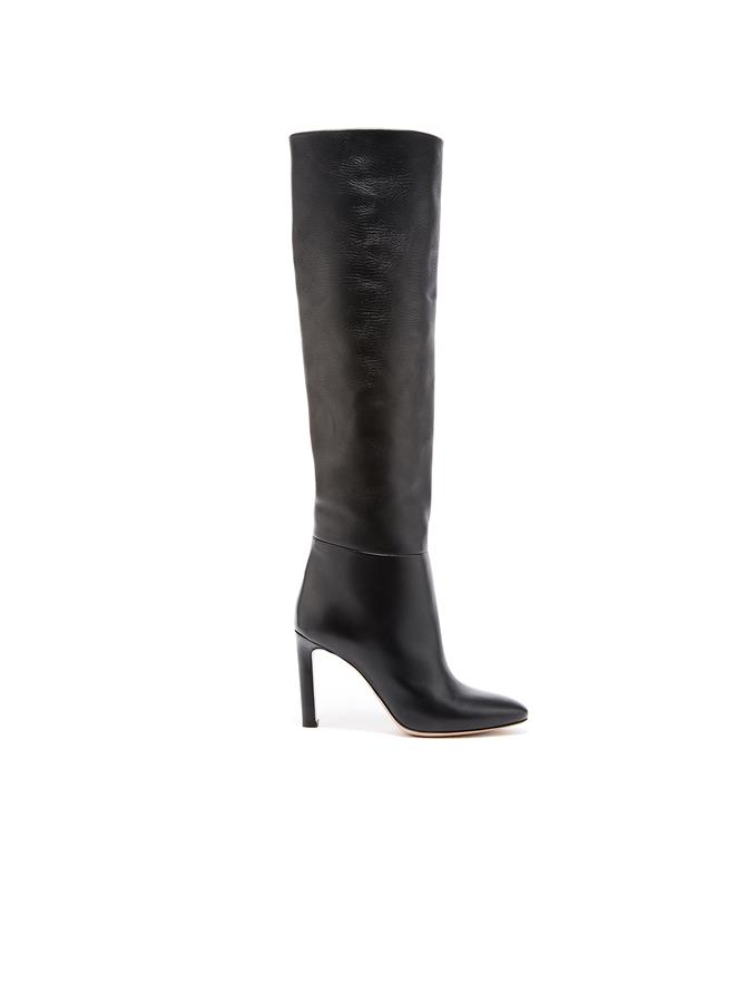 Black Leather Margot Knee-High Boot