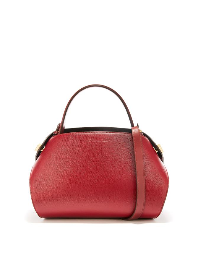 Cranberry Leather Baby Nolo Bag