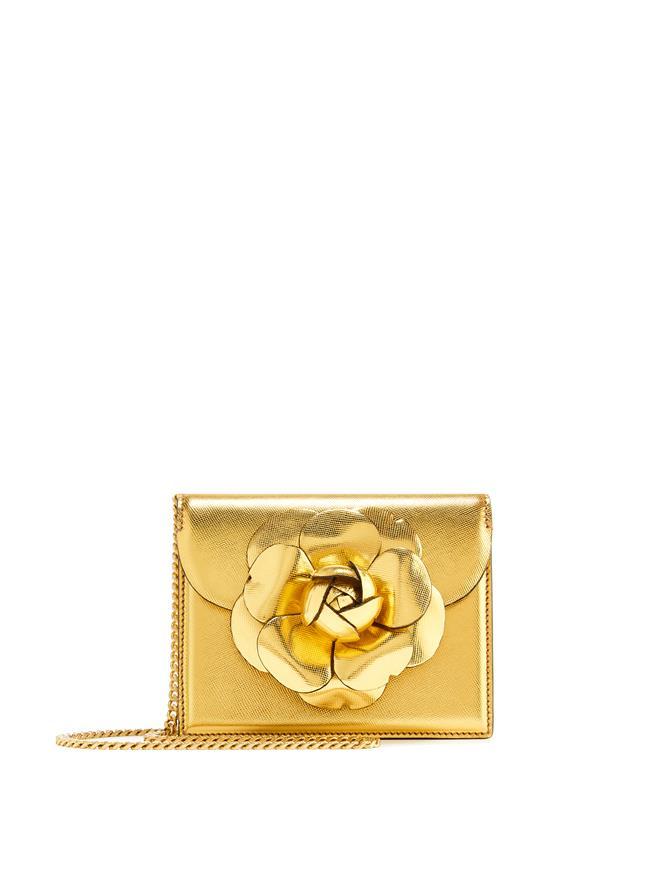 Gold Saffiano Mini TRO Bag