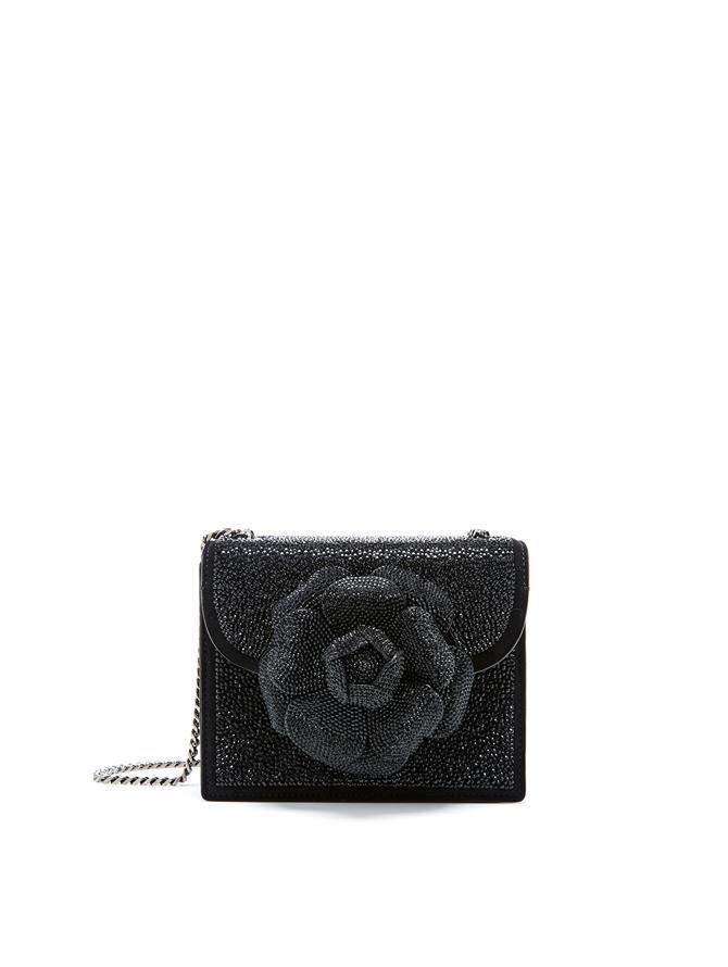 Black Swarovski Mini TRO Bag