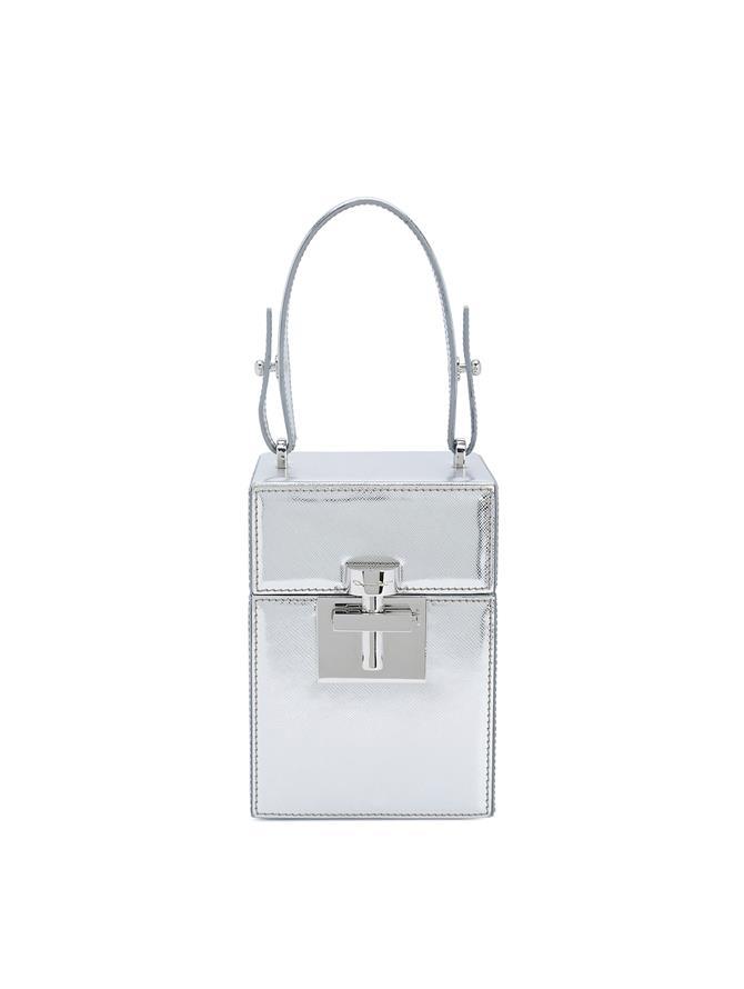 Silver Saffiano Alibi Bag