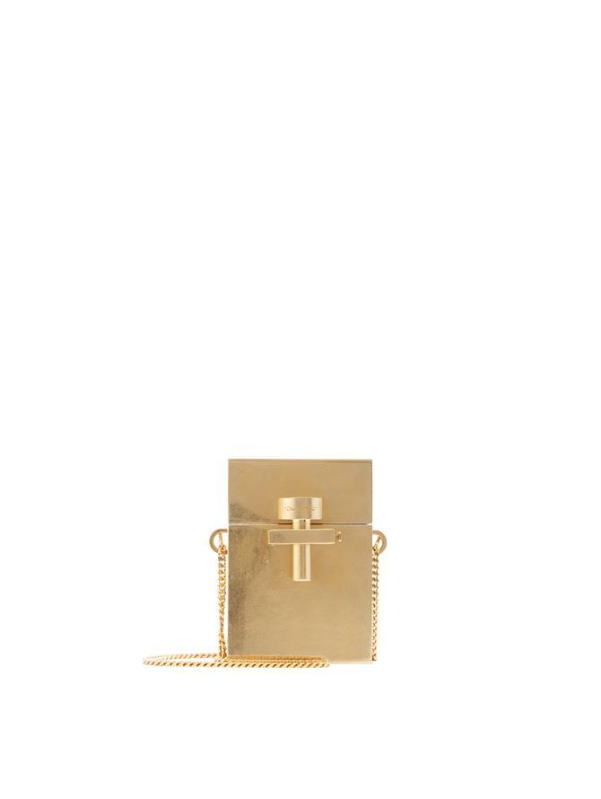 Gold Metal Mini Alibi Bag