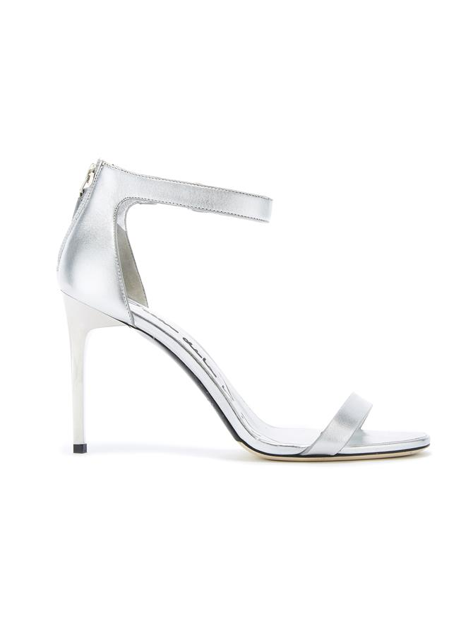 SILVER LEATHER ANGE SANDALS