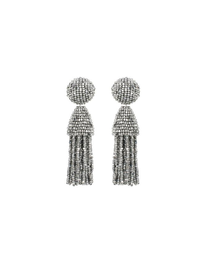 SILVER CLASSIC SHORT TASSEL EARRINGS