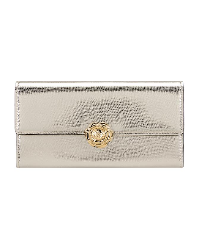 Light Gold Continental Wallet
