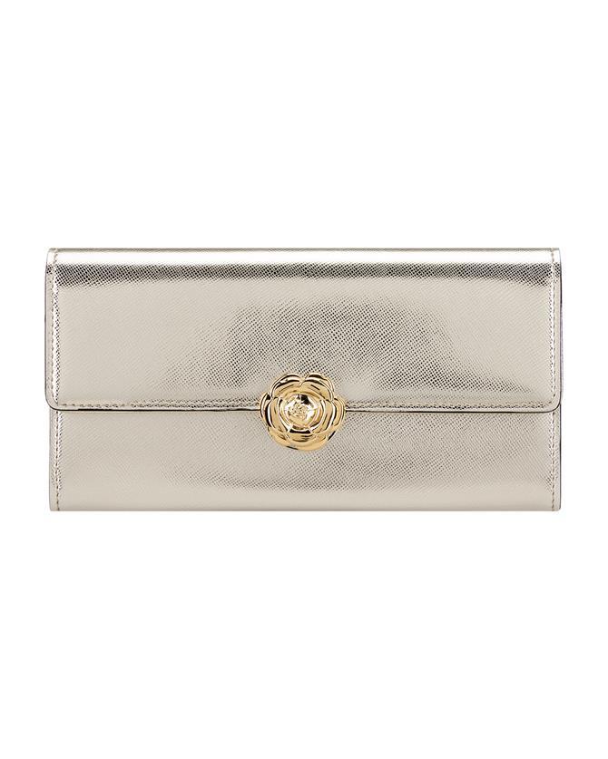 Light Gold Continental Wallet