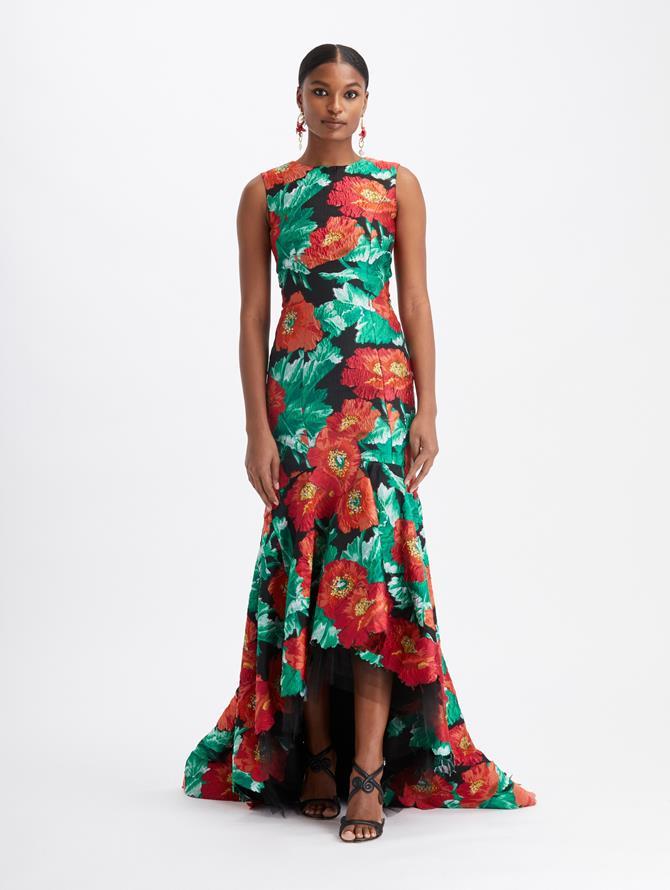 Fil Coupé High-Low Gown