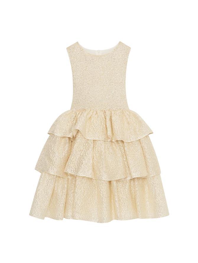 Tiered Lurex Cloque Dress