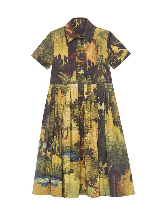 Landscape Collared Dress