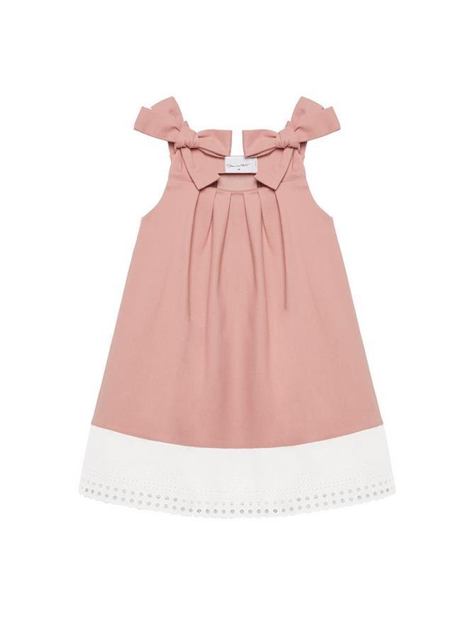 Bow Strap Denim Dress