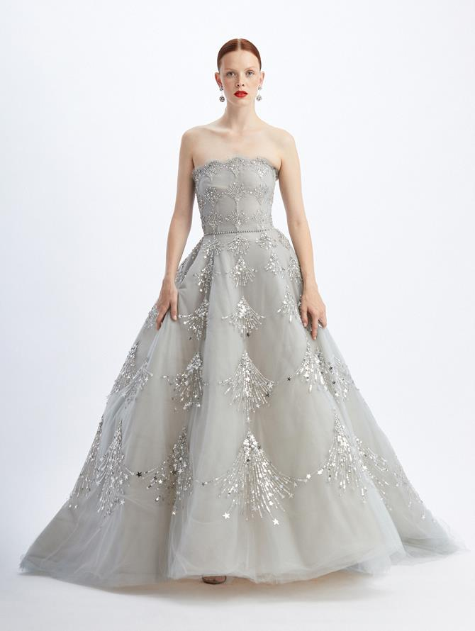 Celestial Embroidered Ball Gown