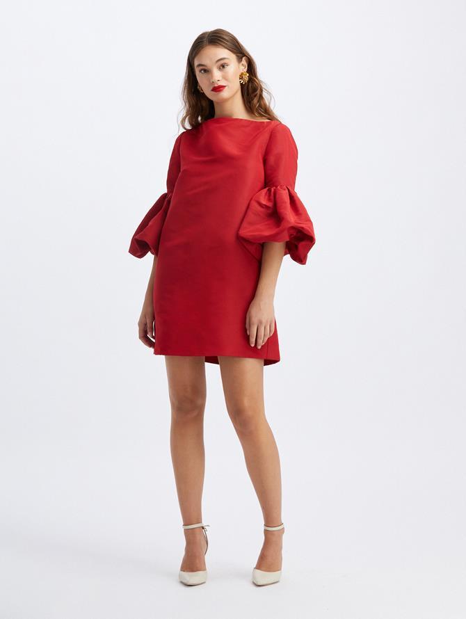 Silk Tie Back Mini Dress