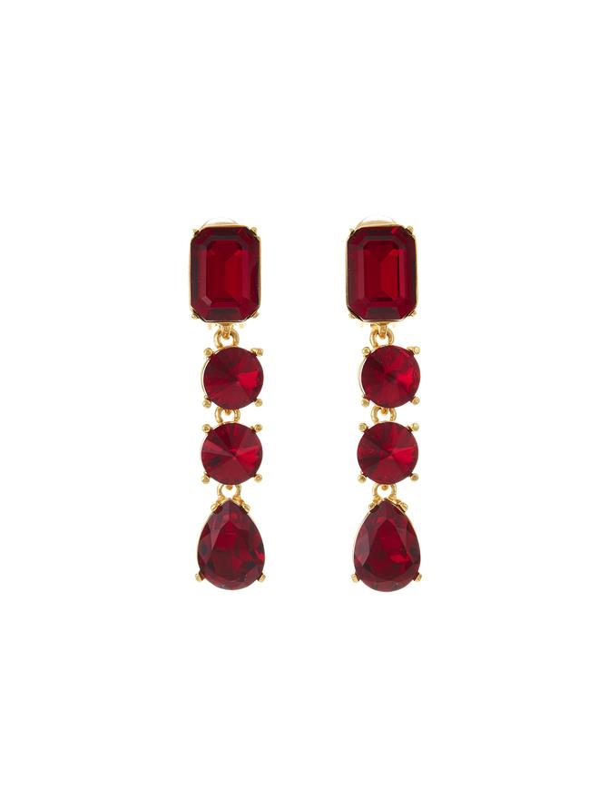 Classic Crystal Large Drop Earring