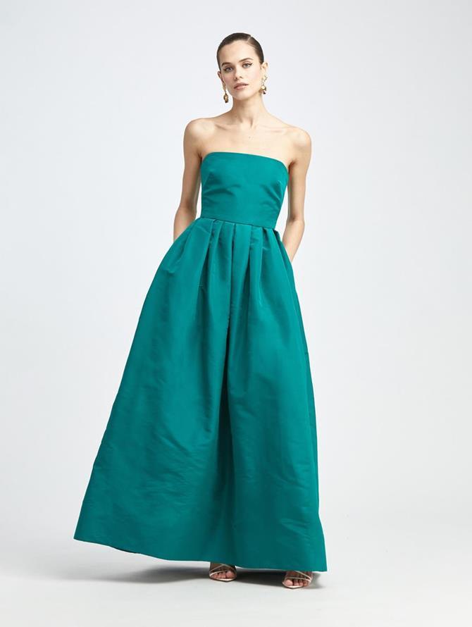 Strapless Silk Faille Gown