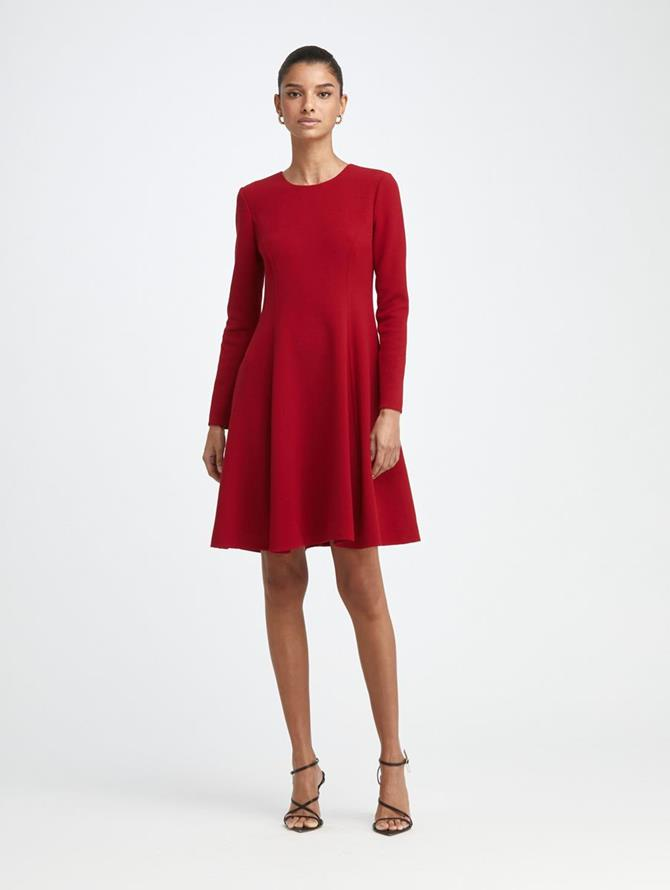 Stretch-Wool Crepe Swing Dress