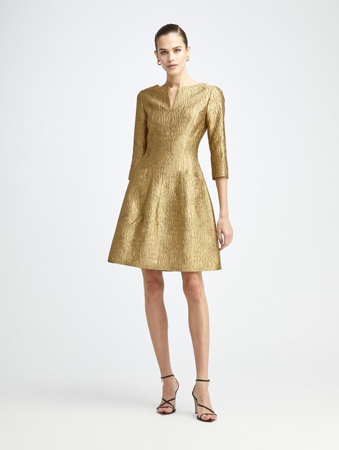 Lurex Moire Faille Dress