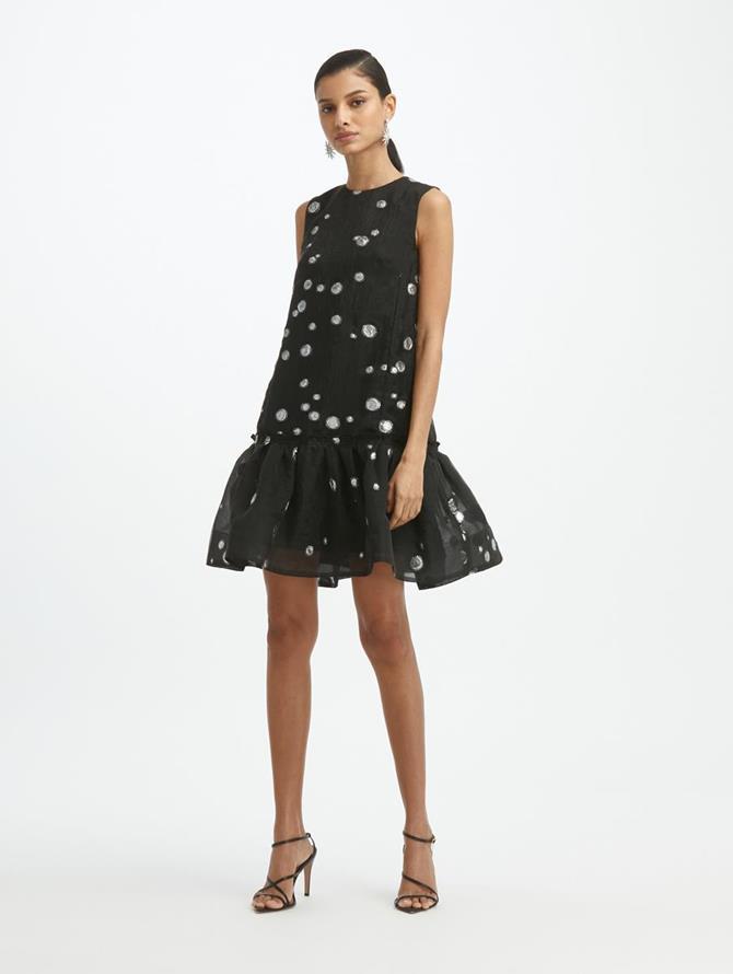 Fil Coupé Drop Waist Dress