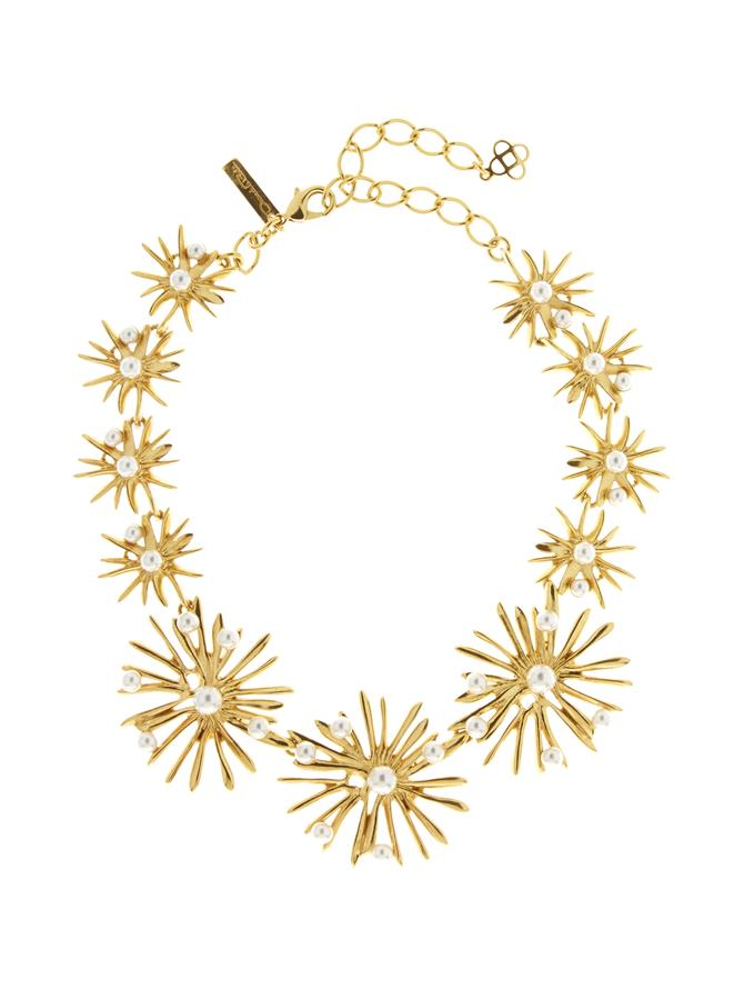 Classic Pearl Starburst Necklace