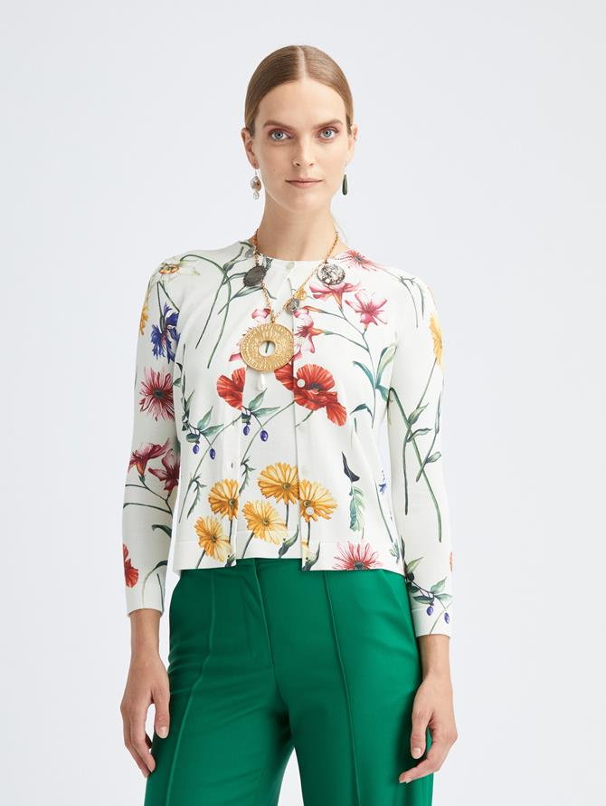 Fiore Printed Knit Cardigan