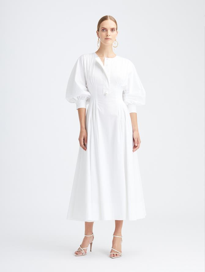 Bubble Sleeve Cotton Day Dress