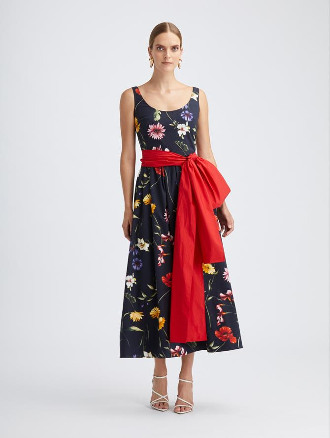Cotton Poplin Sash Dress