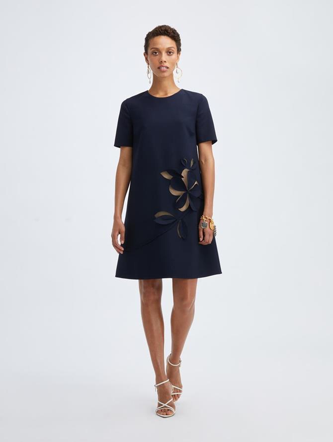 Navy Cutout Dress