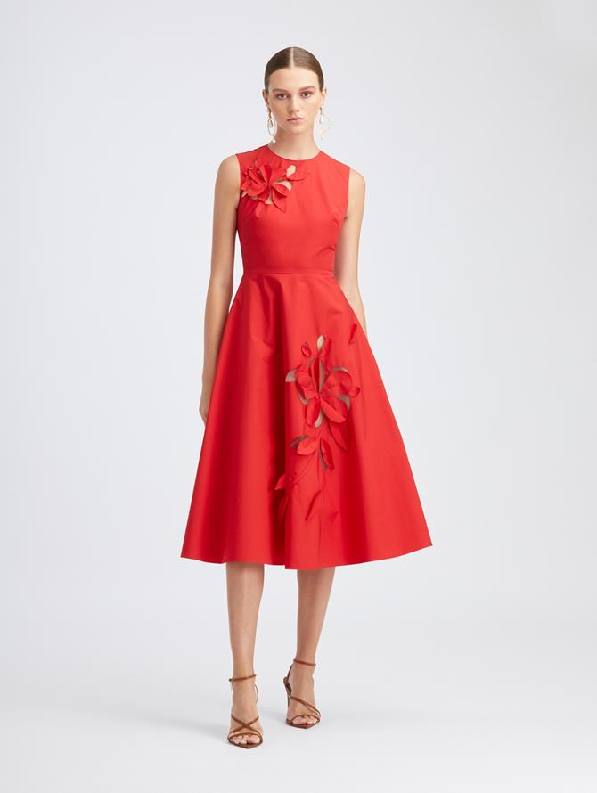 Scarlet Cutout A-Line Dress