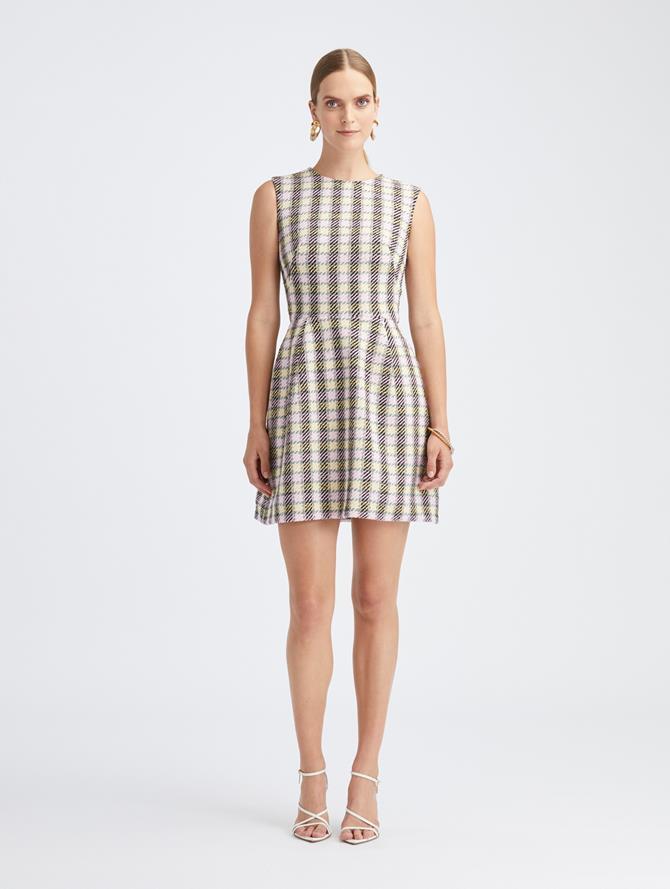 Bloom Check Tweed Dress