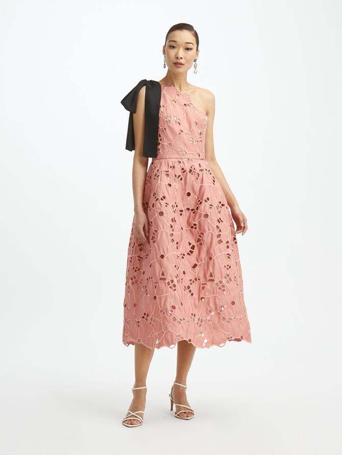 One Shoulder Faille Dress