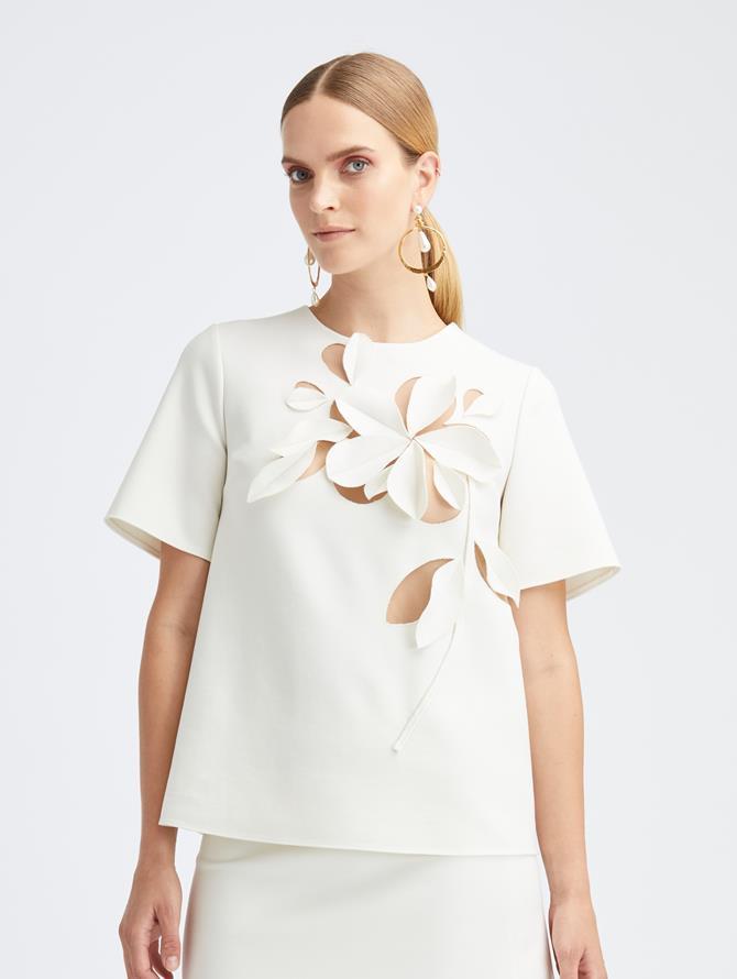 Short Sleeve Ivory Top