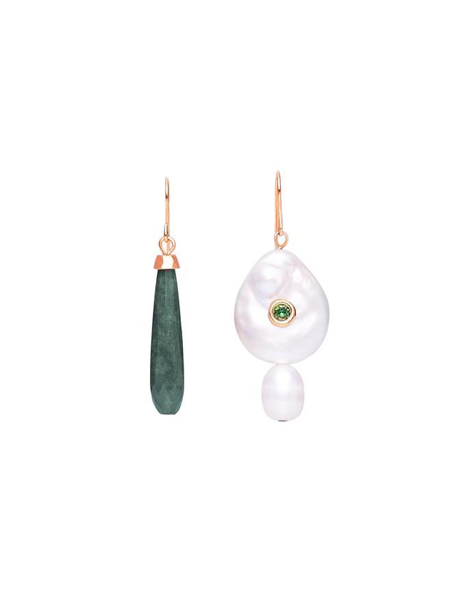Pearl & Jade Drop Earrings
