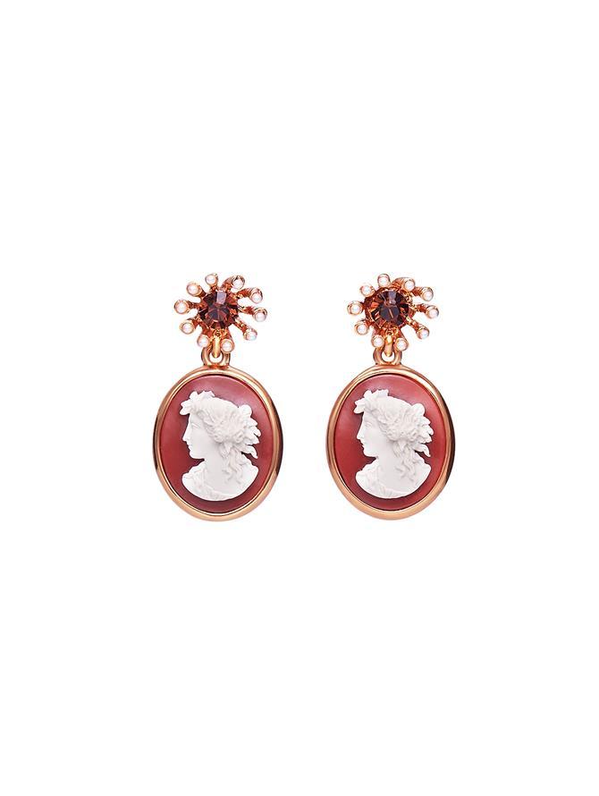 Pearl Cameo Earrings