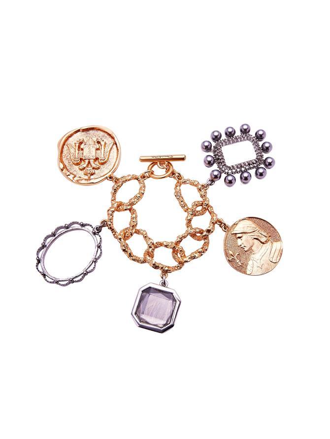 Coin Charm Bracelet
