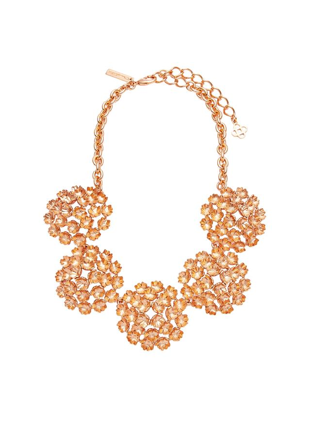 Gathered Flower Statement Necklace