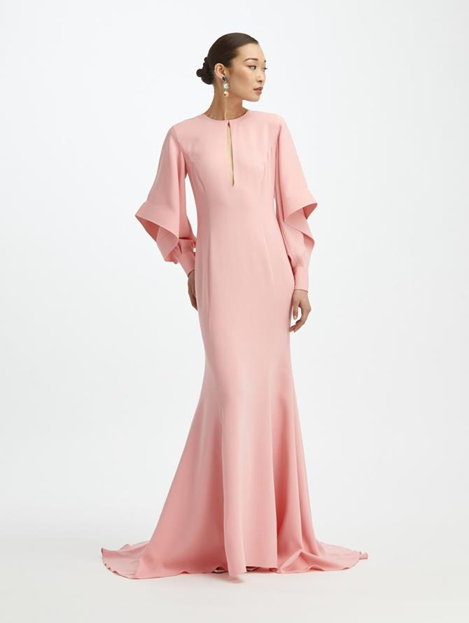 Cascade Sleeve Gown