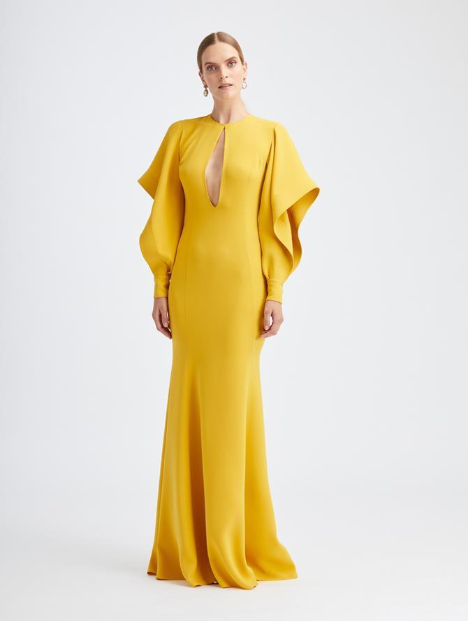 Cascade Sleeve Gown