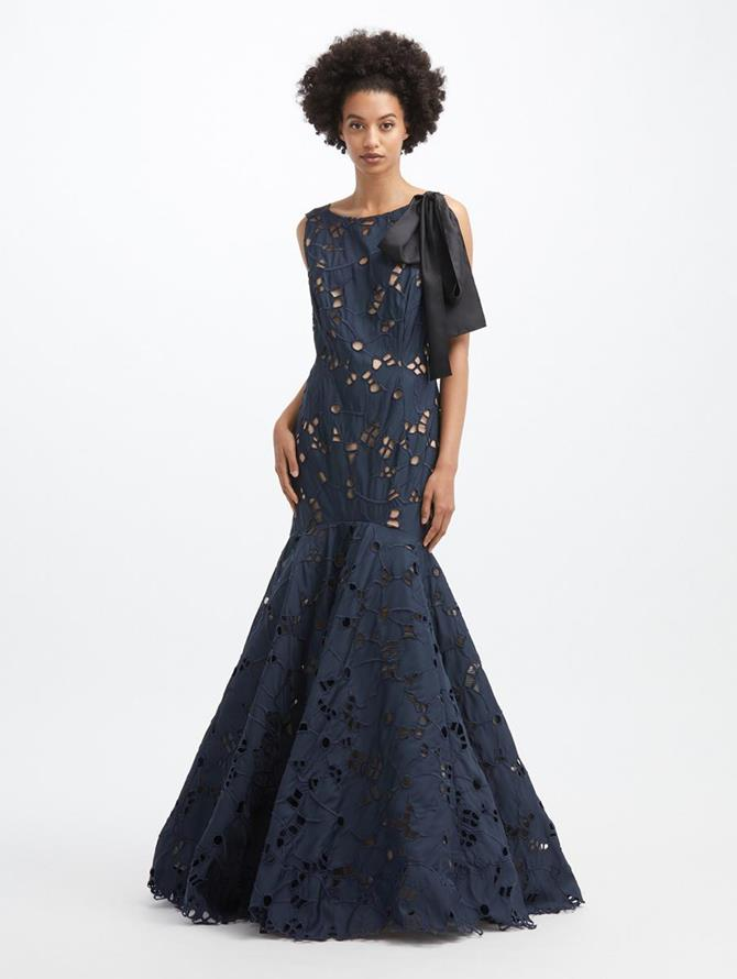 Faille Flare Gown